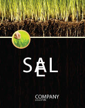 Nature & Environment: Soil Sale Poster Template #02607