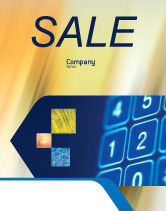 Telecommunication: Touchpad Sale Poster Template #02667