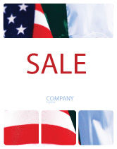 Flags/International: Mexico and USA Sale Poster Template #02668