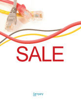 Telecommunication: Ethernet Patch Cord Sale Poster Template #02692