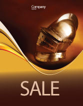 Art & Entertainment: Knight's Helmet Sale Poster Template #02695