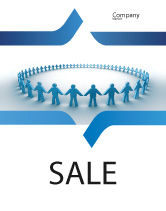 People: Round Dance Sale Poster Template #02707