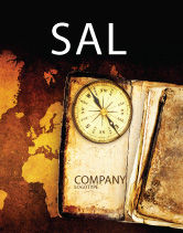 Global: Old Compass Sale Poster Template #02716