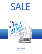 Technology, Science & Computers: Digits From Laptop Sale Poster Template #02725