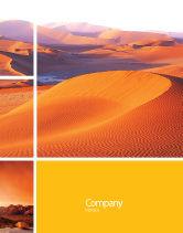 Nature & Environment: Rote wüste Plakat Vorlage #02728