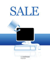 Consulting: Computer Shield Software Sale Poster Template #02745