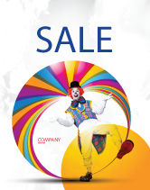 Holiday/Special Occasion: Clown Poster Template #02801