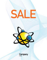 Education & Training: Atom Sale Poster Template #02803