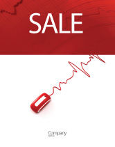 Medical: Computer Pulse Sale Poster Template #02809