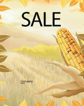 Agriculture and Animals: Free Corn Thanksgiving Sale Poster Template #02821