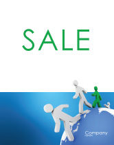 3D: World Ties Sale Poster Template #02827