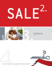 Holiday/Special Occasion: Cutting Red Tape Sale Poster Template #02829