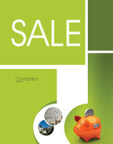 Financial/Accounting: Piggy-bank Sale Poster Template #02832