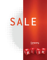 Business: Red Risk Cubes Sale Poster Template #02837