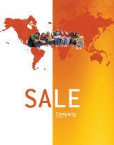 People: Modello Poster - I bambini sullo sfondo arancione mondo #02838