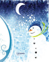 Holiday/Special Occasion: Snowman Sale Poster Template #02847