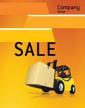 Cars/Transportation: Yellow Loader Sale Poster Template #02863