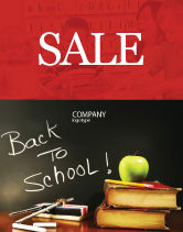 Education & Training: Back To School Sale Poster Template #02867