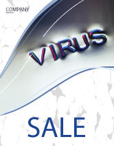 Medical: Virus Sign Sale Poster Template #02875
