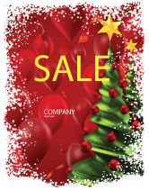 Holiday/Special Occasion: New Year Celebration Sale Poster Template #02885