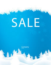 Holiday/Special Occasion: Forest Snow Sale Poster Template #02888