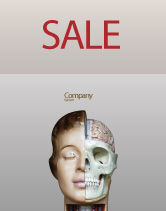 Medical: Skull As Anatomy Tutorial Sale Poster Template #02889