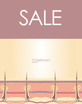 Medical: Skin Sale Poster Template #02897