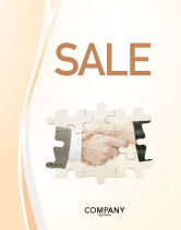 Business: Partnership Sale Poster Template #02899