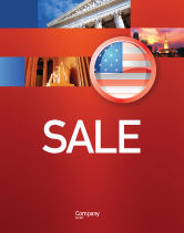 Flags/International: US Flag Sale Poster Template #02905