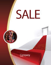 Consulting: Red Carpet Sale Poster Template #02912