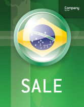 Flags/International: 巴西签署海报模板 #02926
