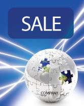 Global: Jigsaw World Sale Poster Template #02945