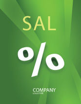 Financial/Accounting: Percent Sign Sale Poster Template #02957