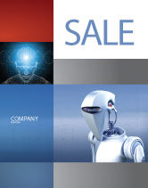 Technology, Science & Computers: Robot Sale Poster Template #02958