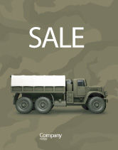 Military: Military Truck Sale Poster Template #02962
