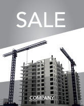 Construction: Building Plot Sale Poster Template #02967