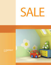 Education & Training: Plantilla de póster - guarderías infantiles #02974