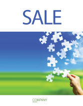 Business Concepts: Picture of the World Sale Poster Template #02986