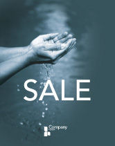 Nature & Environment: Water Sale Poster Template #02995