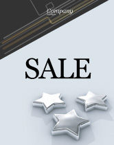 Careers/Industry: Stars Sale Poster Template #03006
