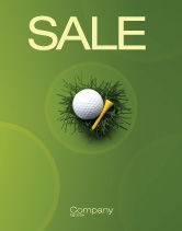Sports: Golf Ball In The Nest Sale Poster Template #03010