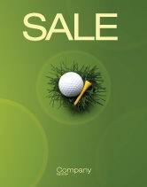 Sports: Golfball im nest Plakat Vorlage #03010