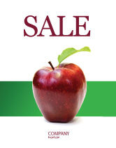 Agriculture and Animals: Red Apple Sale Poster Template #03041