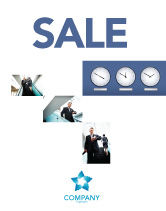 Business: Hours Sale Poster Template #03050