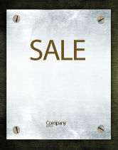 Abstract/Textures: Steel Board Sale Poster Template #03088