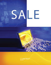 Technology, Science & Computers: Globe Net Sale Poster Template #03101
