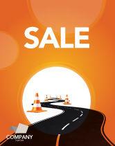 Cars/Transportation: Wegwerkzaamheden Poster Template #03104
