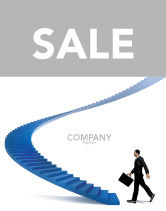Business Concepts: Career Rising Sale Poster Template #03112