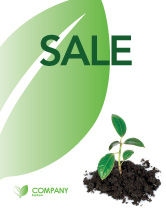Nature & Environment: Life Sale Poster Template #03126