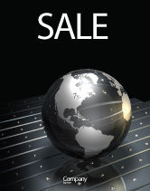 Global: Globe Of Steel Sale Poster Template #03141